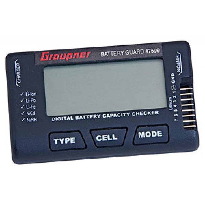 Comprobador de baterías para LiPo/LiLo/LiFe/NiMh/NC