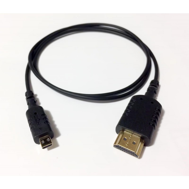 Cable extrafino HDMI a HDMI Micro (80 cm)