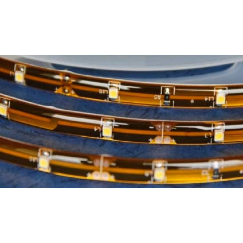 Tira de LED 1 m (30 LED) resistente al agua. Color BLANCO CÁLIDO