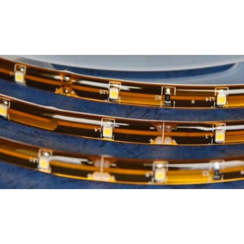 Tira de LED 1 m (60 LED) resistente al agua. Color BLANCO CÁLIDO