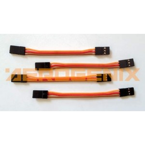 Cable macho-macho de 10 cm con conectores de servo (4 unidades)