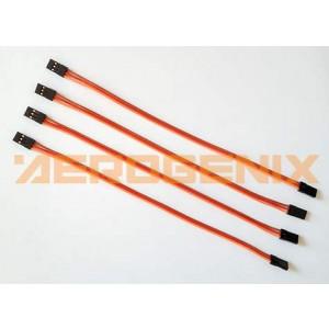 Cable macho-macho de 22 cm con conectores de servo (4 unidades)